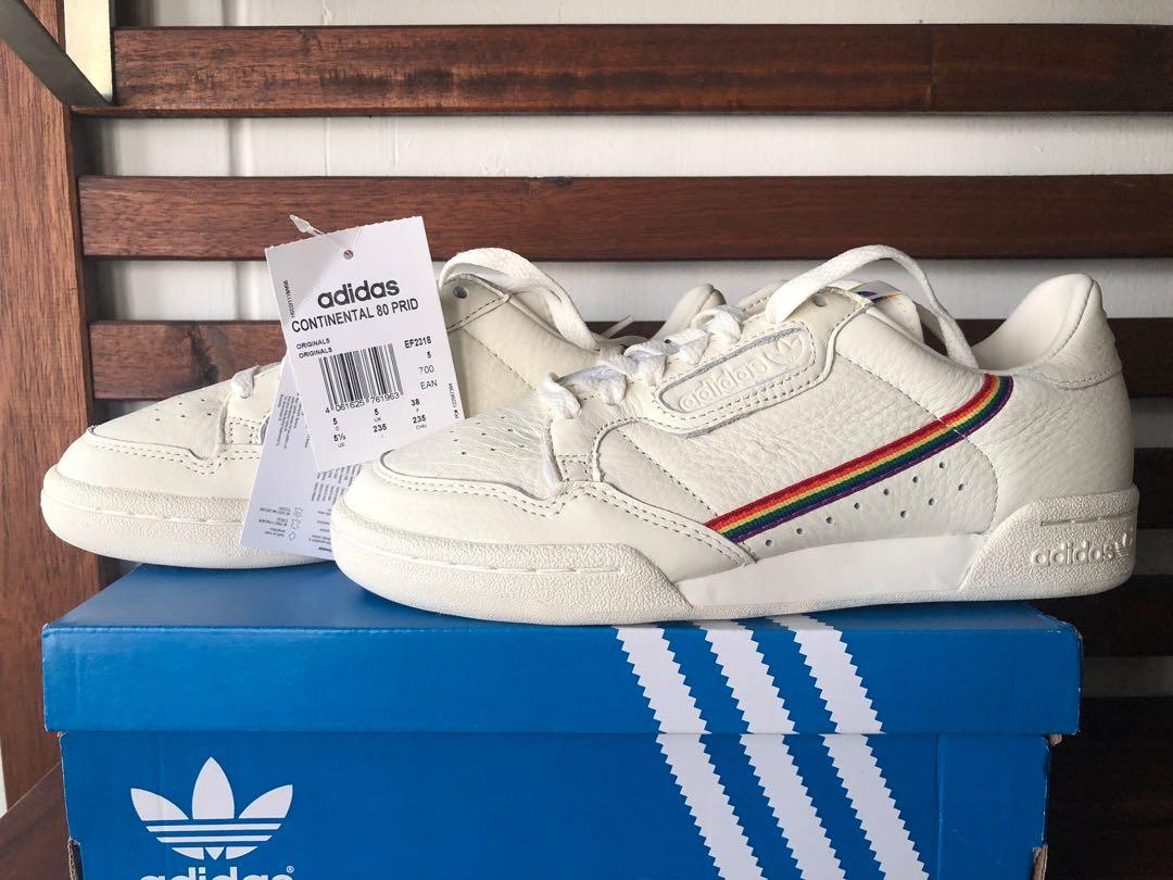 almuerzo Contorno Opuesto  Adidas Continental 80 Pride Sneakers, Men's Fashion, Footwear, Sneakers on  Carousell