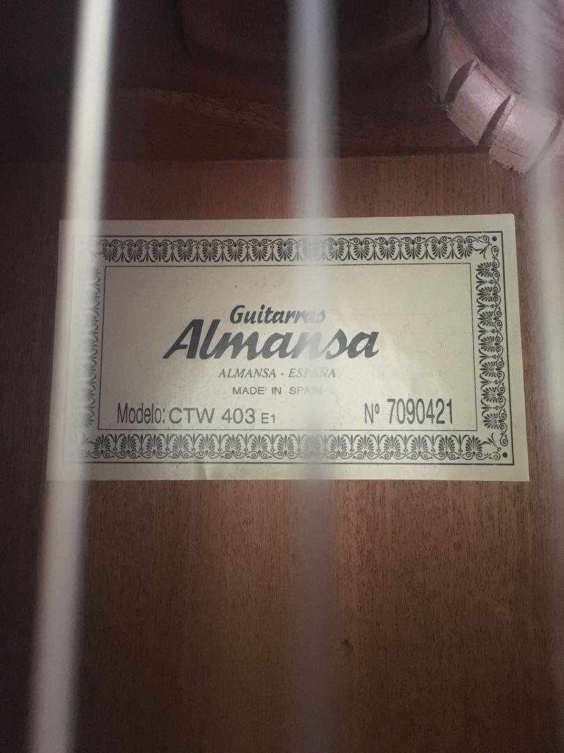 Almansa Spanish Guitar - Used, good condition