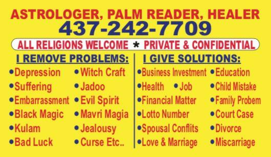 Astrologer psychic readings fortune teller in Toronto