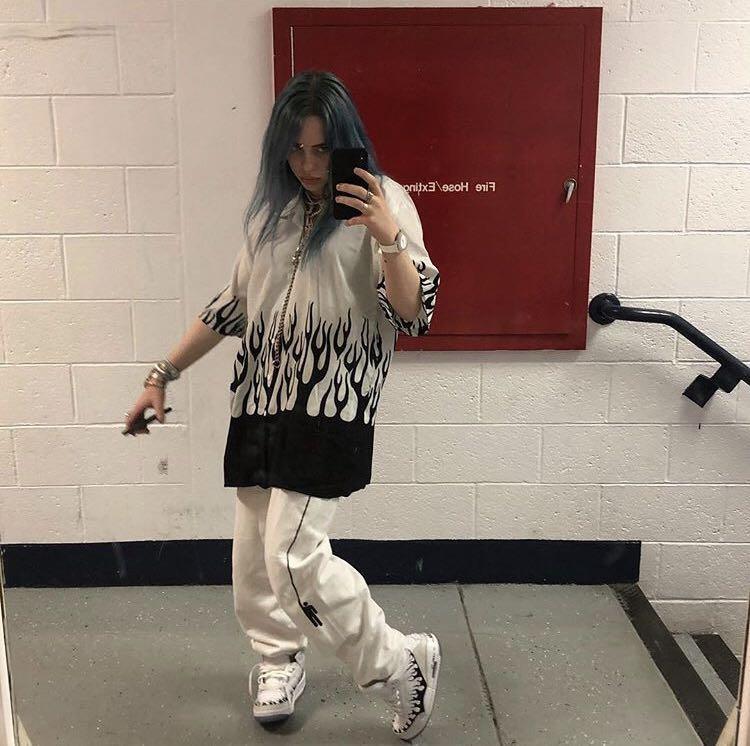 Billie Eilish Track Pants Official Merchandise Women S Fashion Clothes Pants Jeans Shorts On Carousell