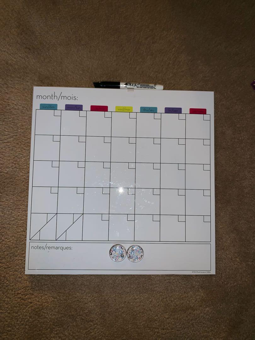 Books, box and calendar