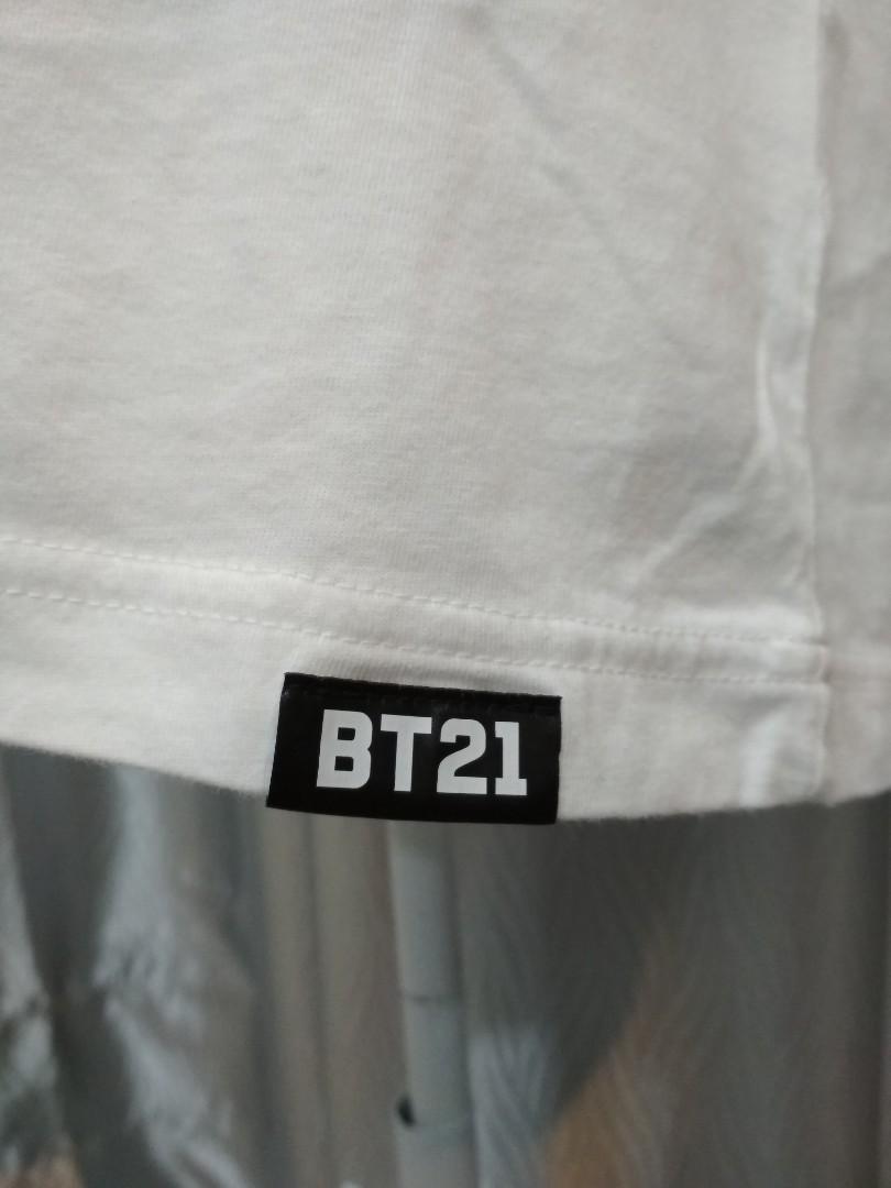 BT21 uniqlo Tata white shirt size L #carousellxcasetify