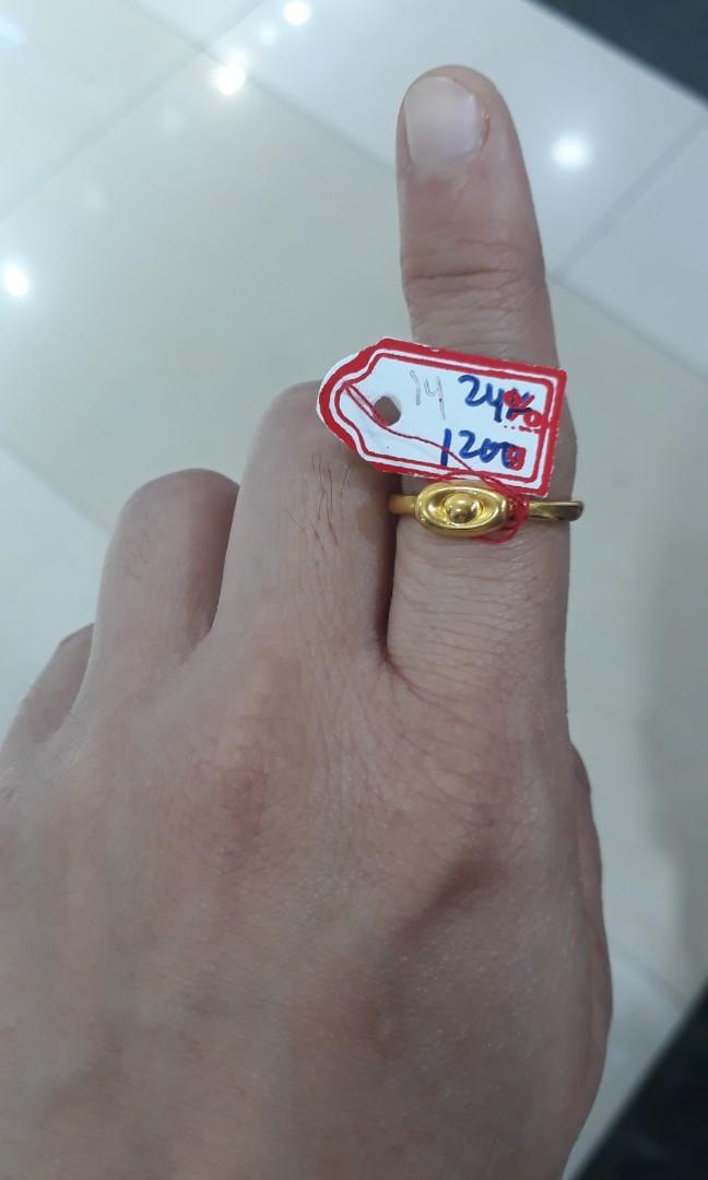 Cincin emas 24k uang tael