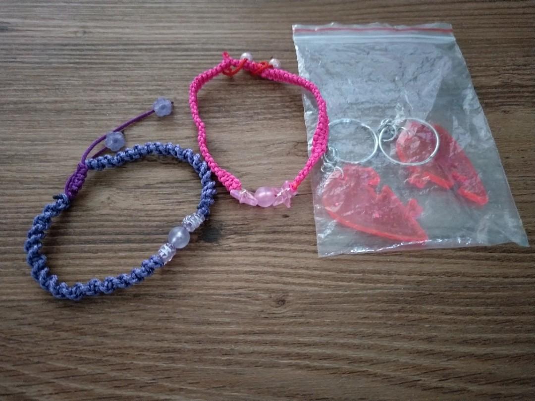 03a723c6cfc74 Clearance sale all @$3.30 mailed!! Purple pink handmade friendship  bracelet!!