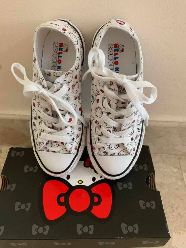 Converse Hello Kitty Kids Sneakers, Women's Fashion, Shoes