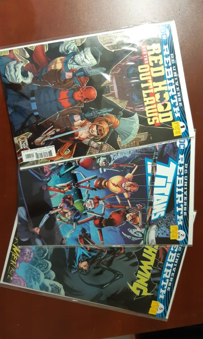 DC Rebirth Comics for Sale (nightwing, batgirl and the birds of prey, titans, redhood and the outlaws)