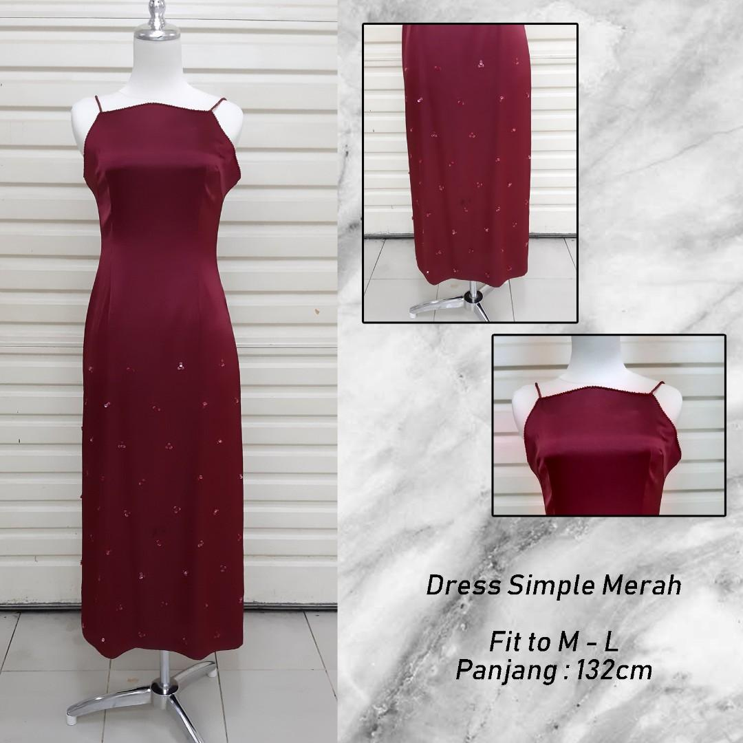 Dress simple RED