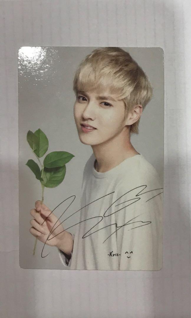 Exo Nature Republic Official Photocard (Kris) #Carouselland