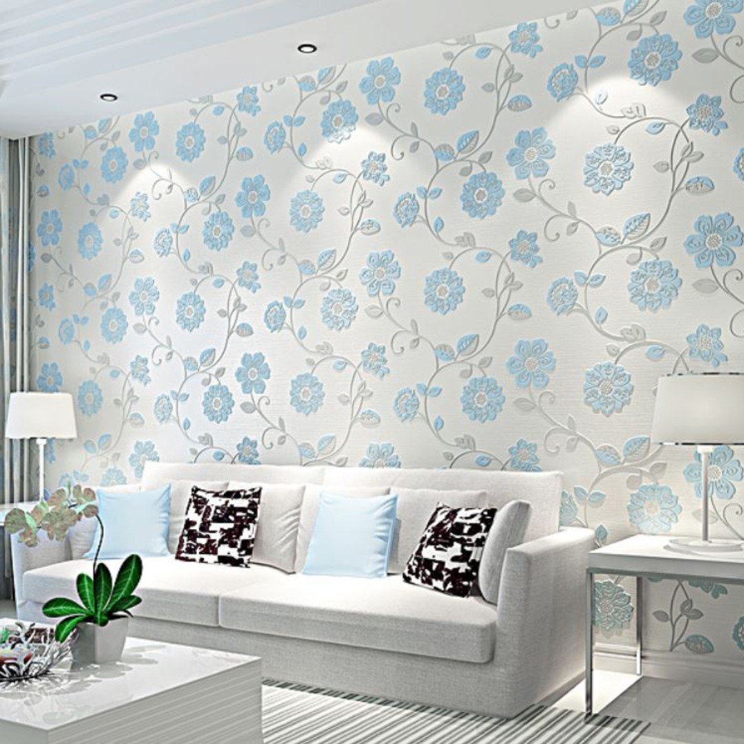Floral Diy Wall Decor Minimalist Decal Mural Vinyl Wallpaper Home Decor For Living Room Office Bedroom Kitchen Dining Room