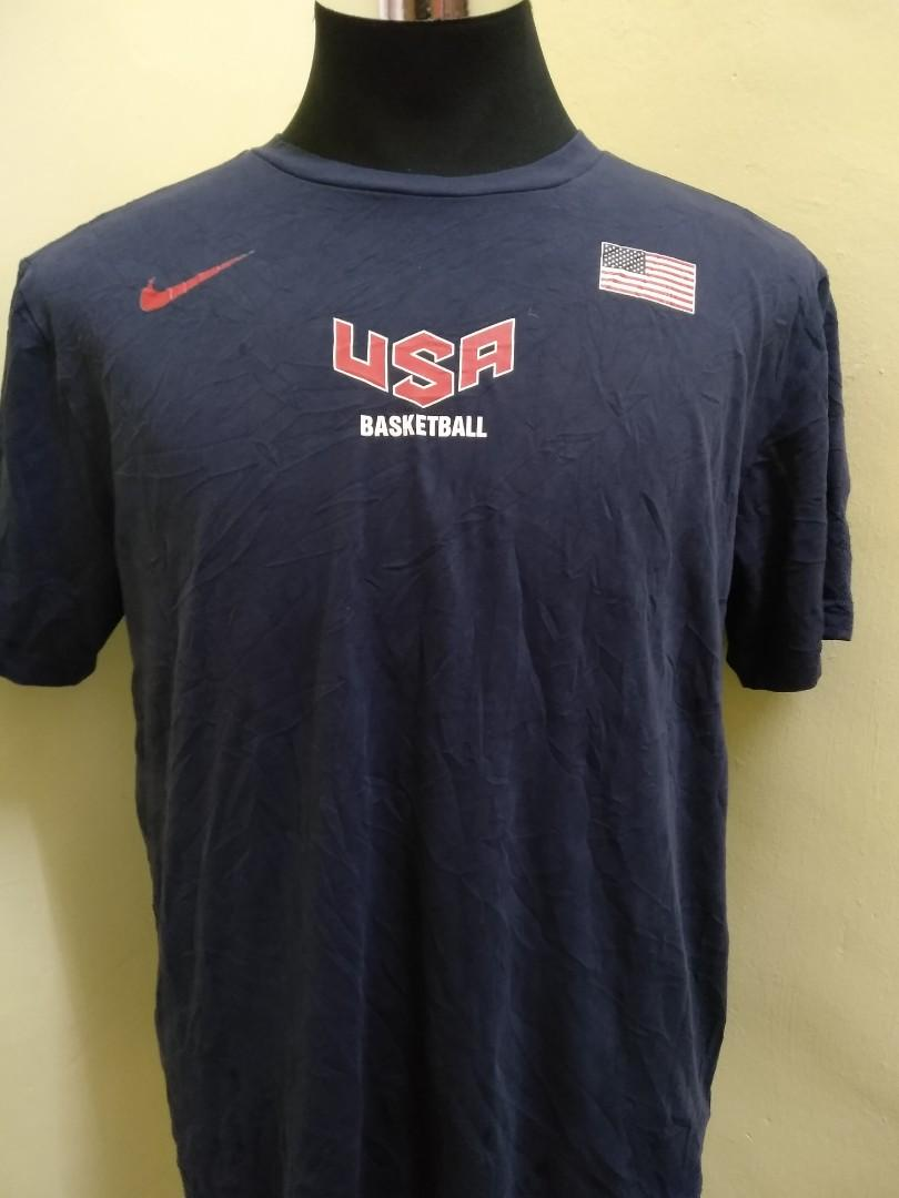 delicate colors for whole family sale FREE POSTAGE Nike Basketball USA T Shirt, Men's Fashion ...
