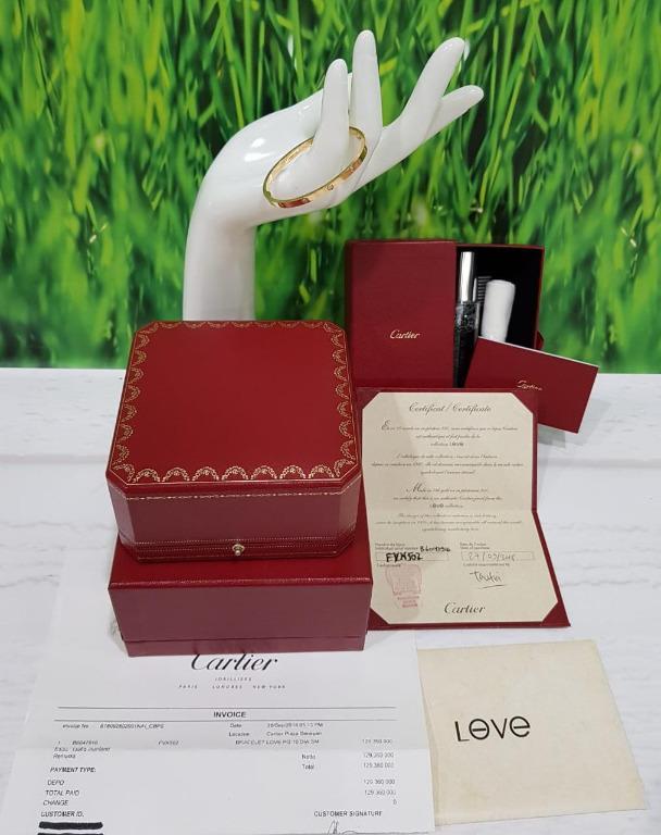 Gelang Cartier Love 10 diamonds rose gold bracelet size 16 small