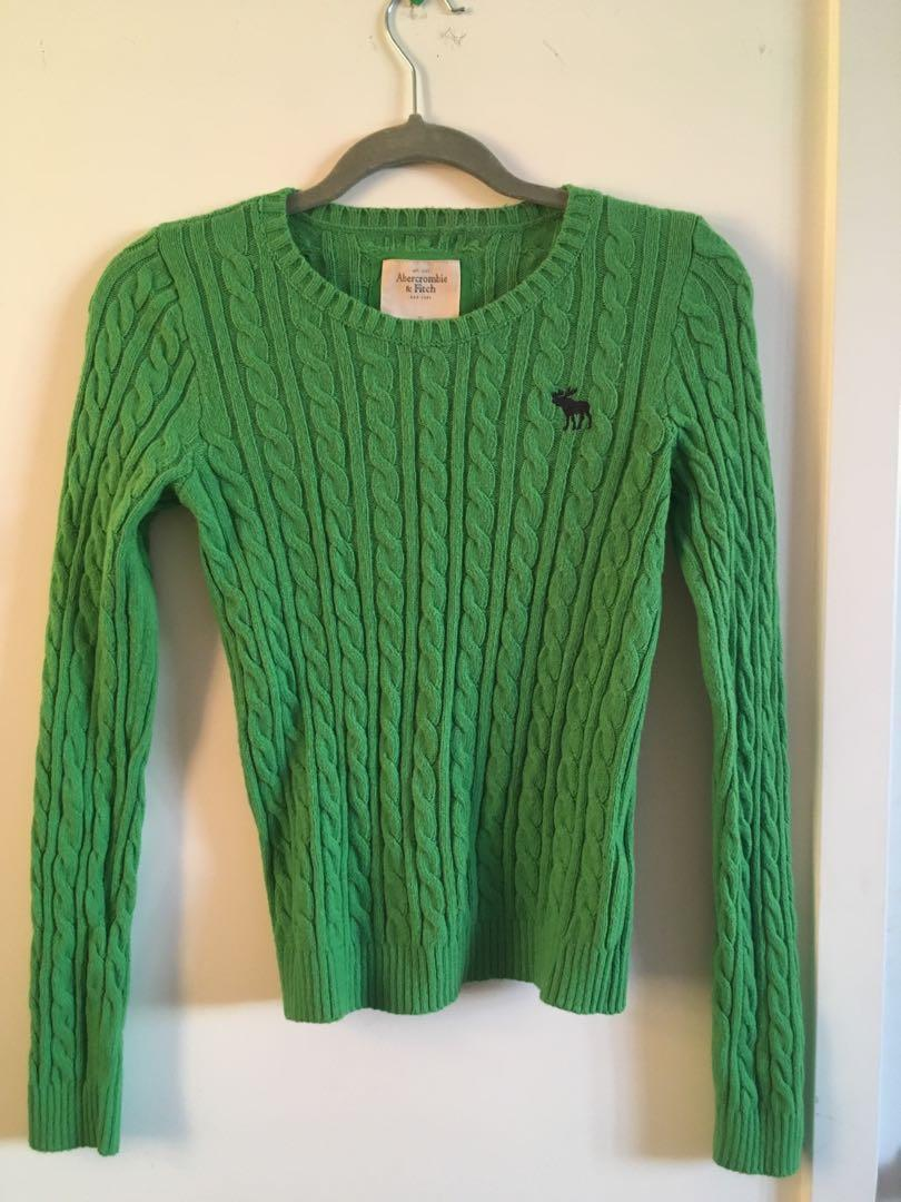 Green Abercrombie & Fitch sweater - ladies size Medium