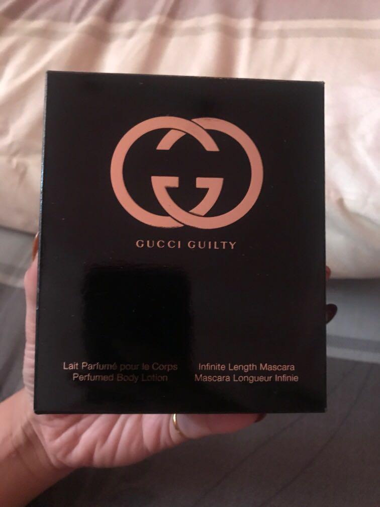Gucci 睫毛膏+身體乳(正品)