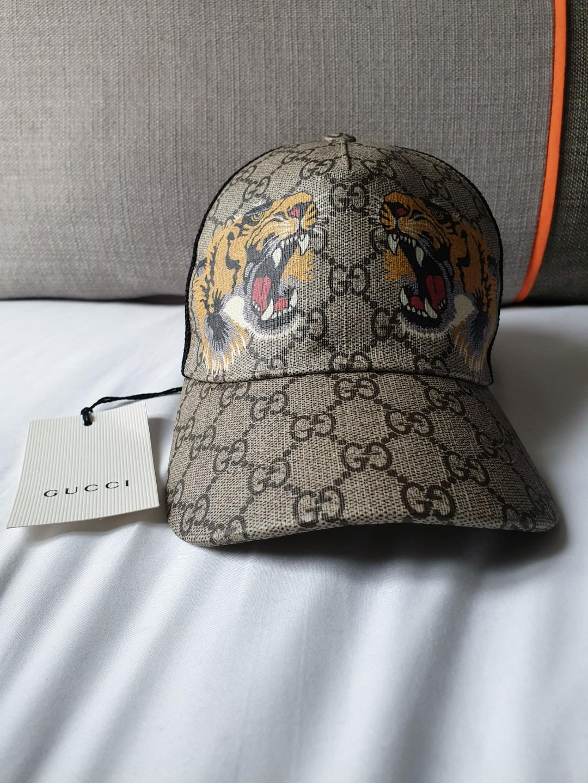 7653815f GUCCI SUPREME TIGER BASEBALL CAP FRESH FROM PARIS., Men's Fashion ...