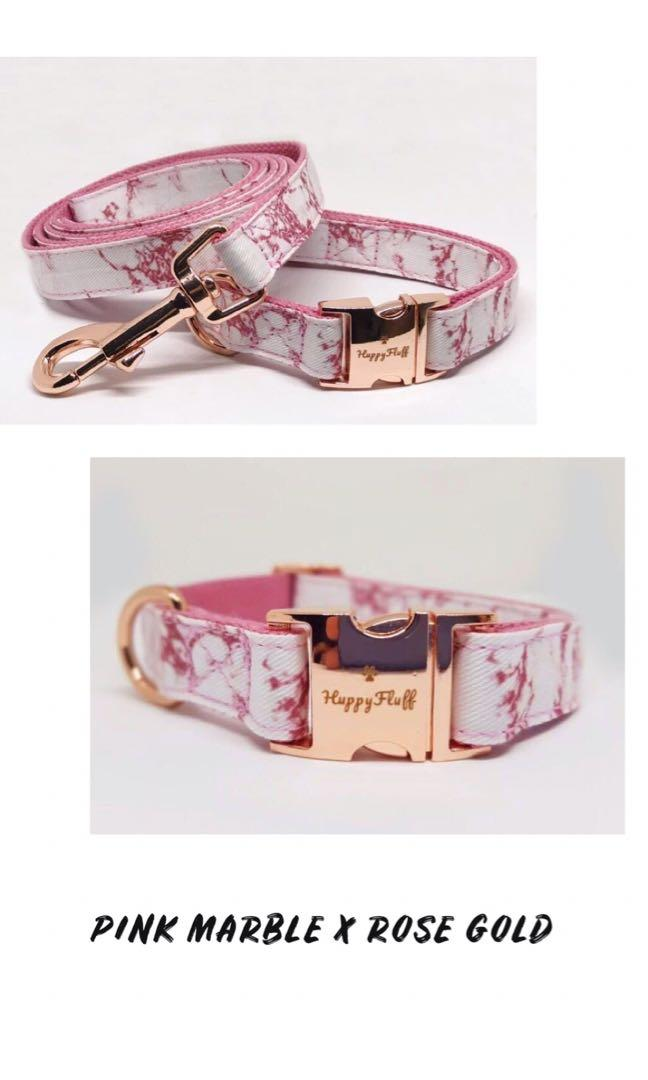 HuppyFluff | Matching Pet Leash & Collar