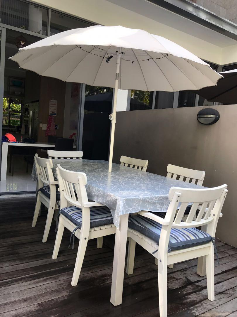 Ikea Angso Outdoor Dining Set W