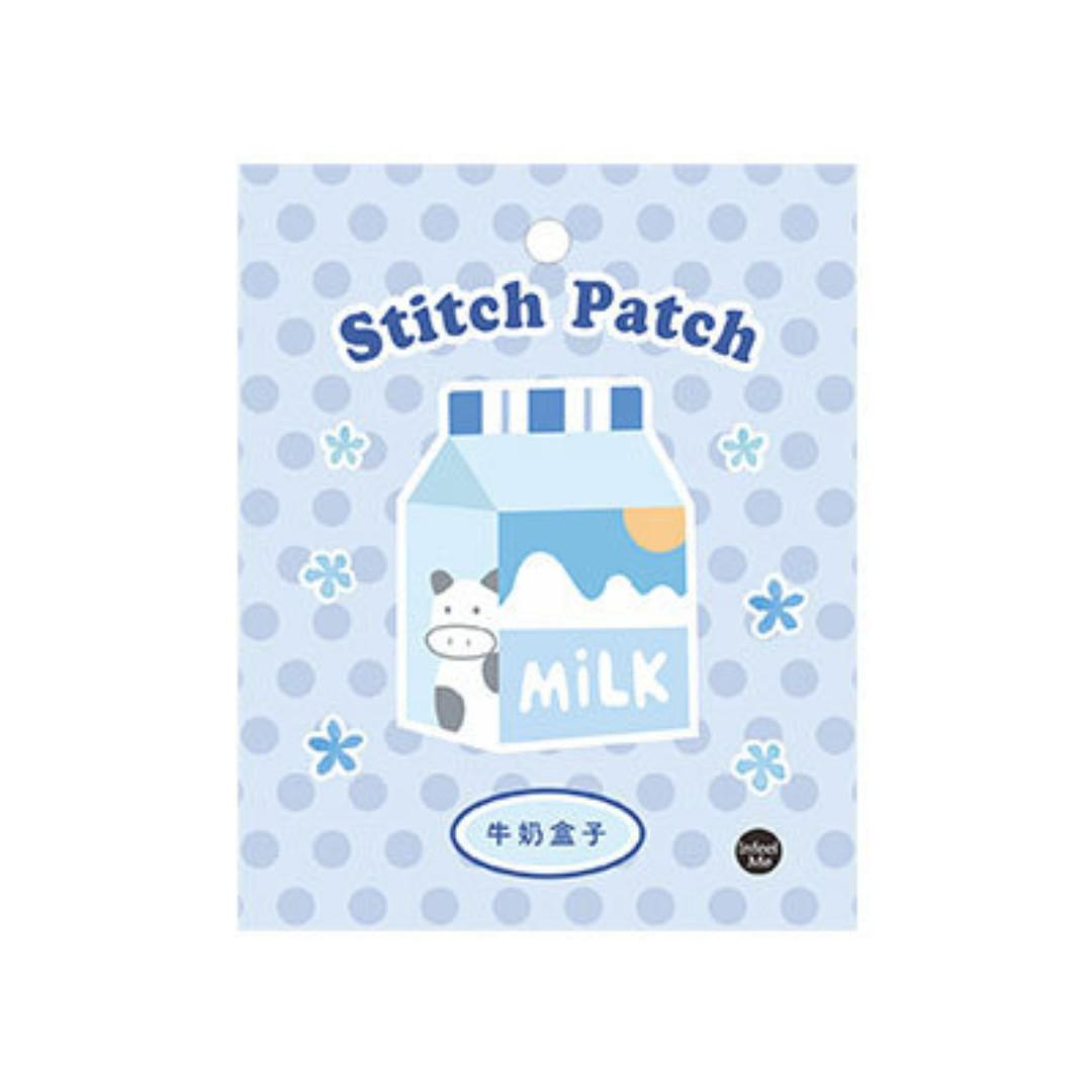[PO] Sweet Sweet [Milk Box] Embroidered Sticker & Iron-On Patch