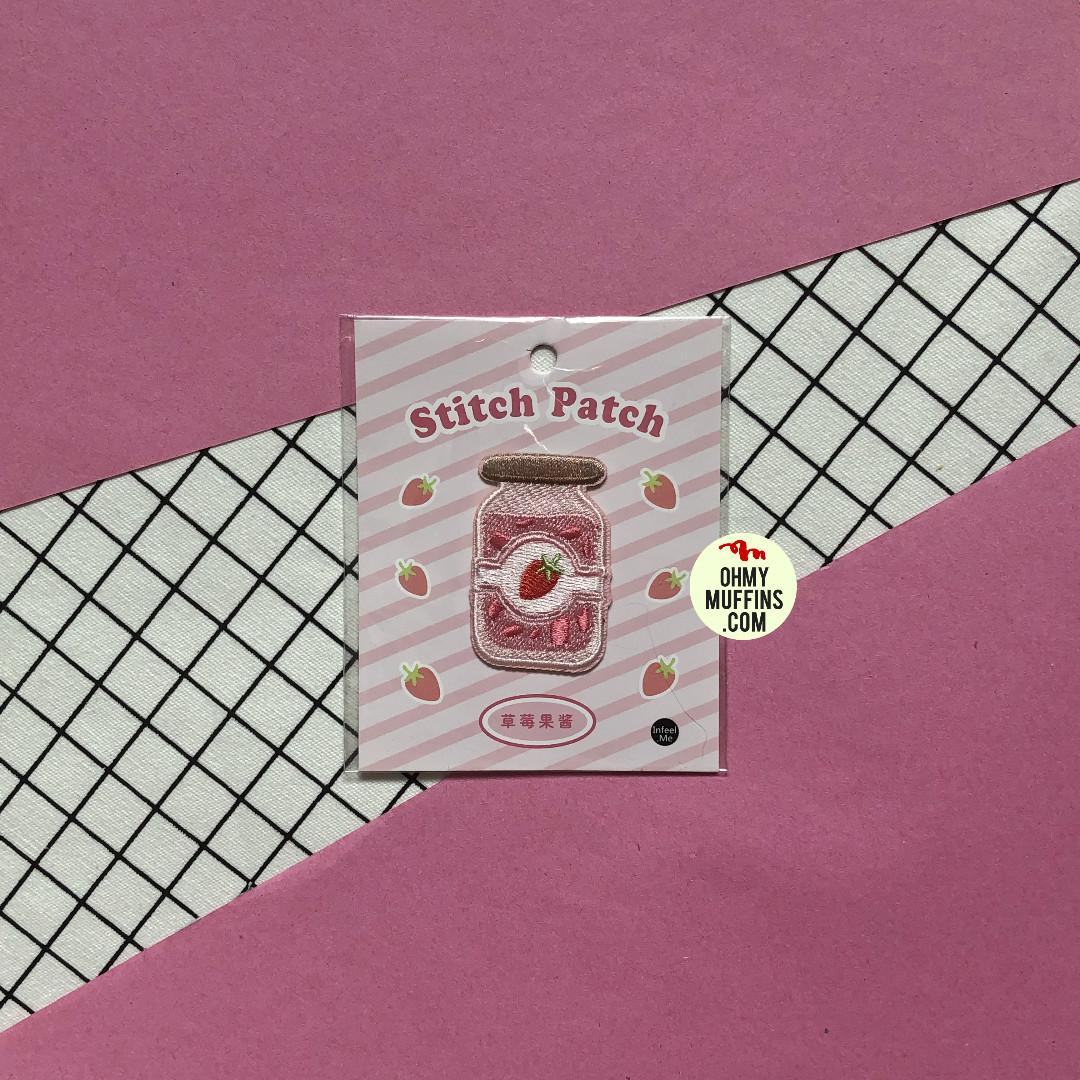 [PO] Sweet Sweet [Strawberry Pudding] Embroidered Sticker & Iron-On Patch