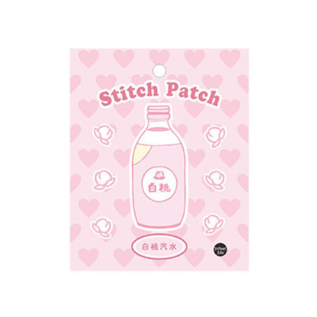 [Instock] Sweet Sweet [White Peach Soda] Embroidered Sticker & Iron-On Patch