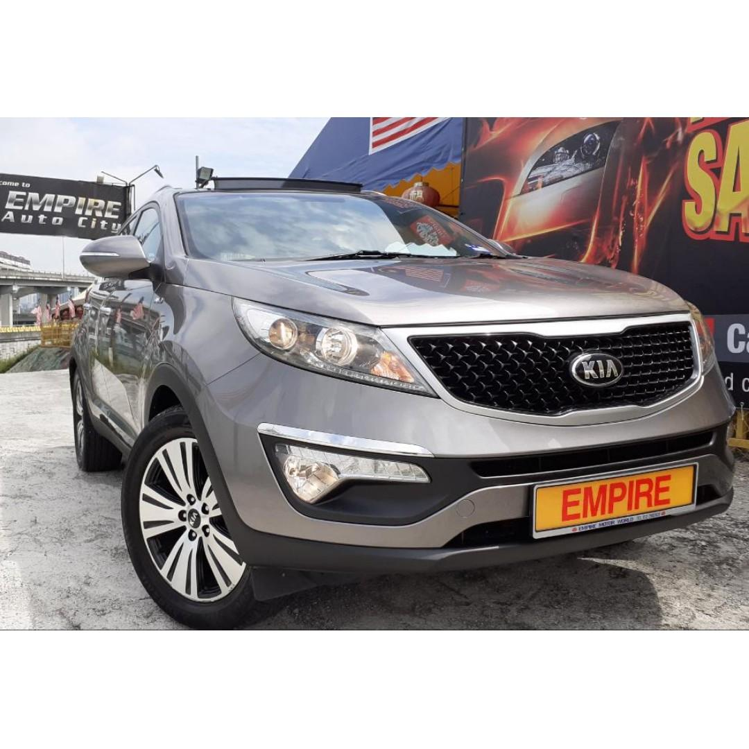 KIA SPORTAGE 2.0 (A) SL EDITION !! FULL SERVICE RECORD BY NAZA KIA !! GENUINE ORIGINAL MILEAGE DONE ONLY 89, 231 KM !! DOHC 16 VALVE !! AWD NEW FACELIFT !! KEYLESS ENTRY / PUSH START / SUNROOF / MOONROOF AND ETC !! PREMIUM SUV FULL HIGH SPECS !!
