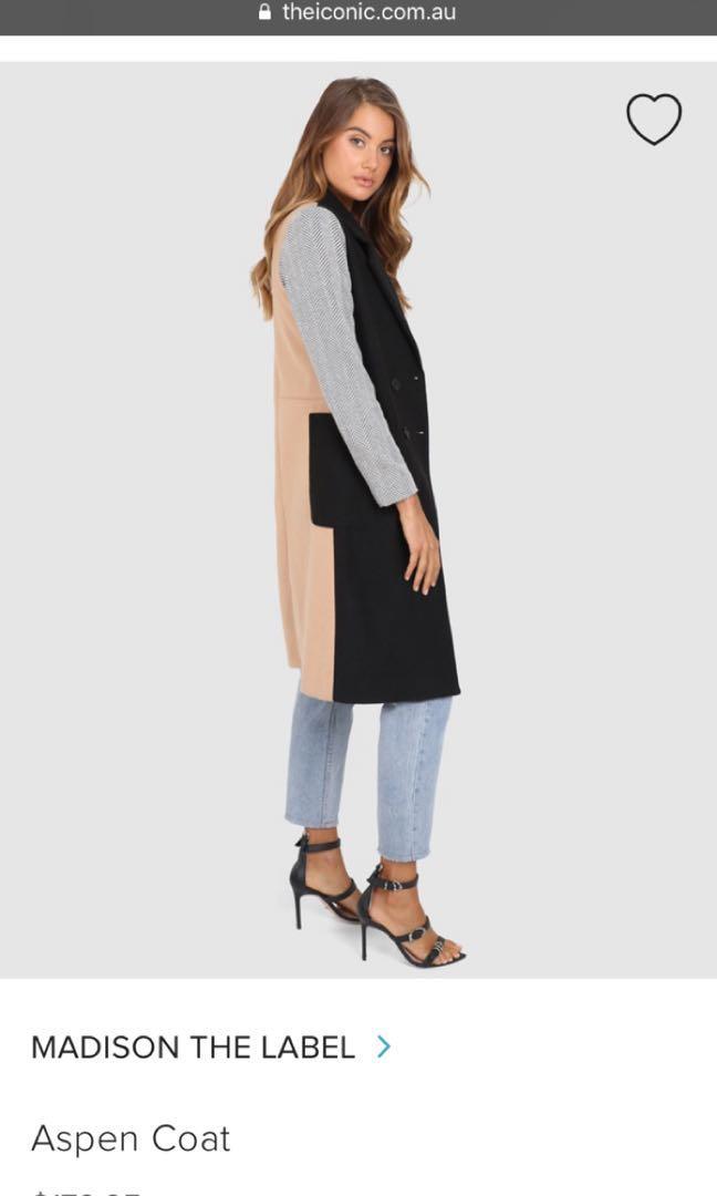 Ladies Madison the label - Aspen coat, worn once. RRP $179.95