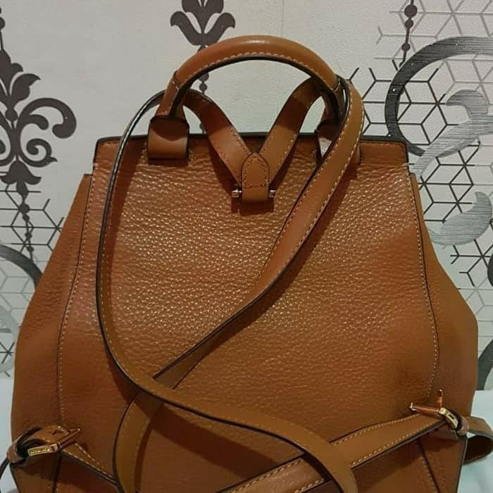 Michael kors romy accorn leather backpack