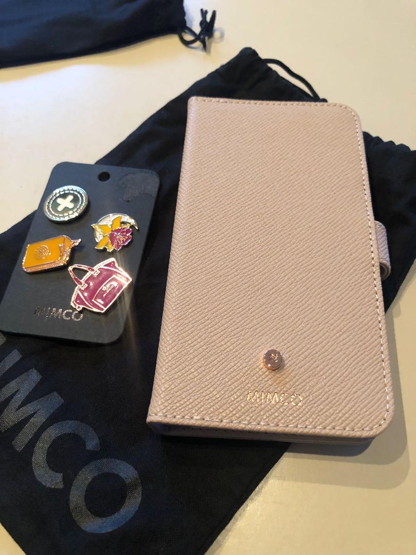Mimco iPhone 6 Plus 7 Plus 8 Plus Phone Case Saffiano Leather