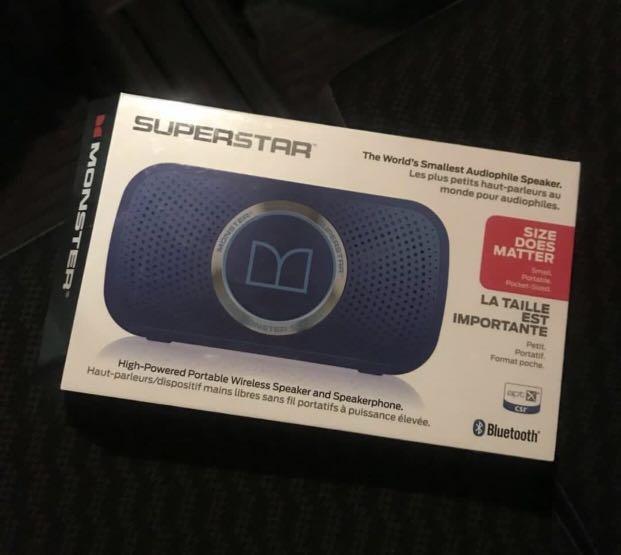 Monster superstar藍芽防水喇叭