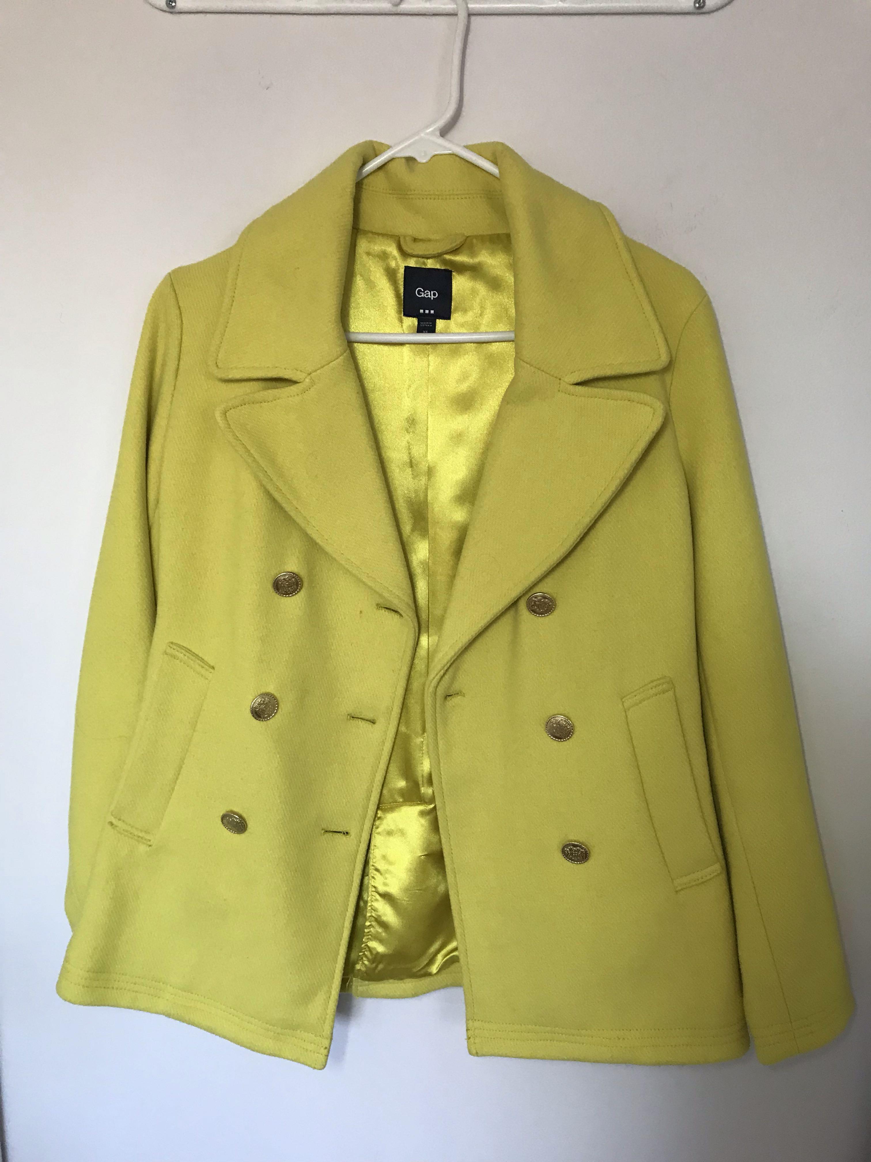 Mustard yellow coat from Italy