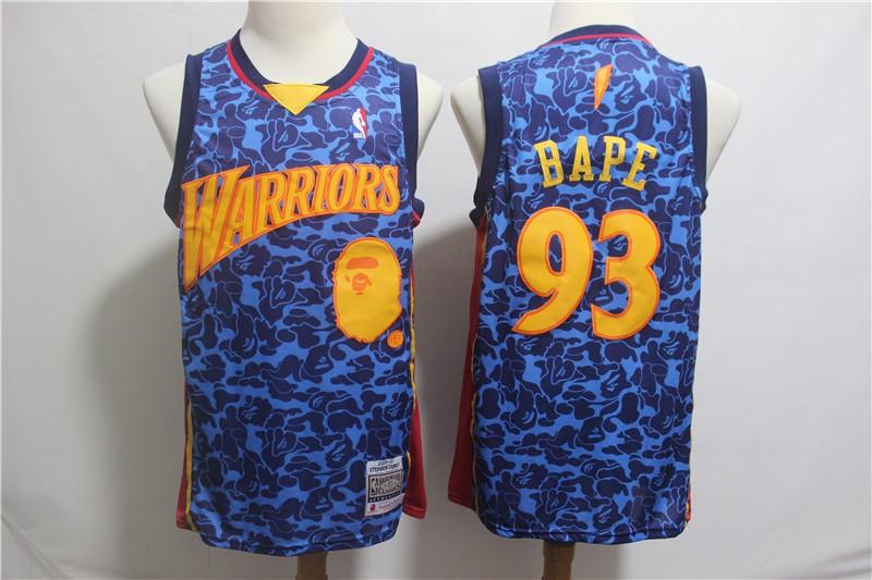 newest collection fef41 6c7bc NBA Golden State Warriors Bape Swingman Jersey