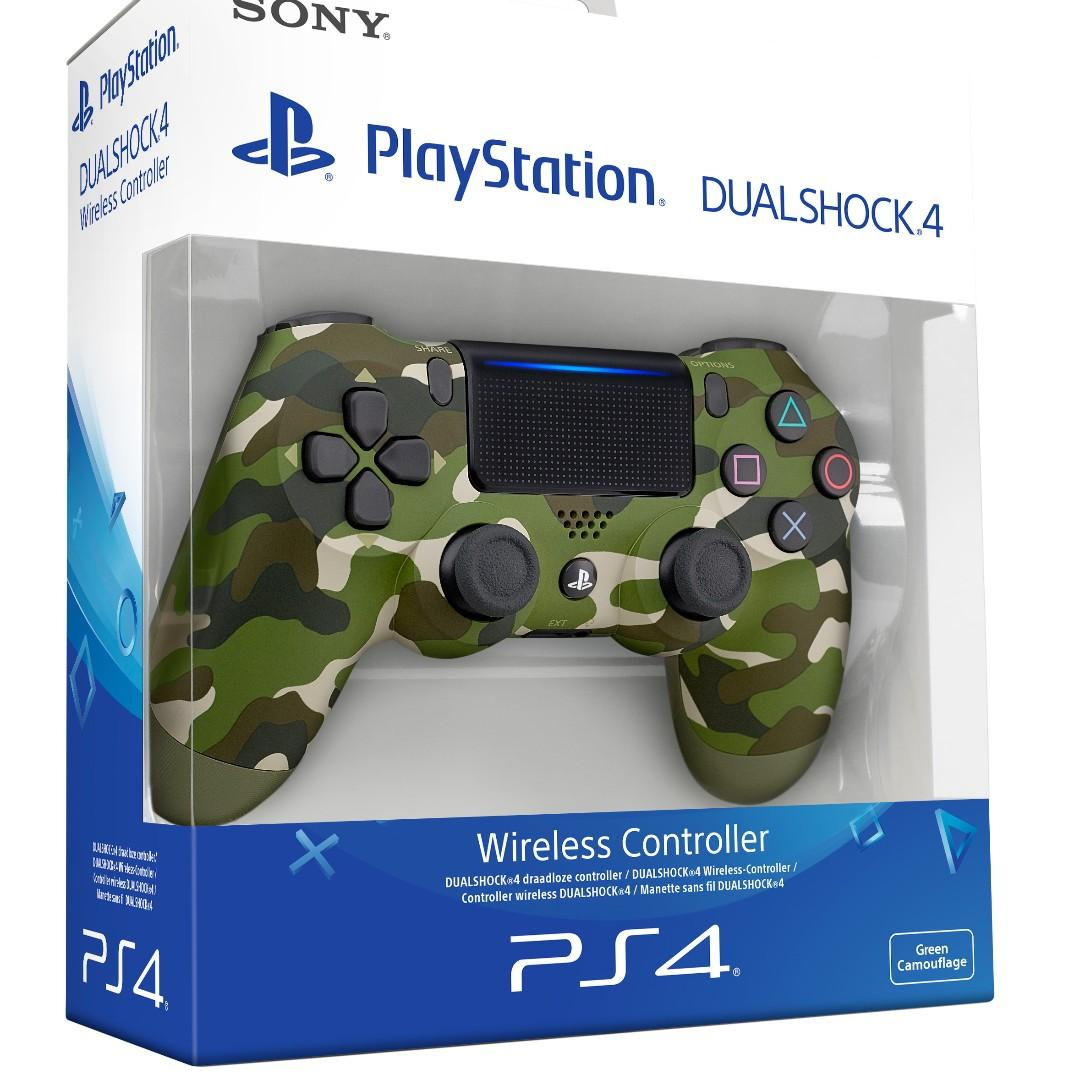 NEW Authentic With Sony Warranty Camo Green Camouflage PlayStation 4 PS4 Wireless Controller Play Station For Console Fat Slim Pro