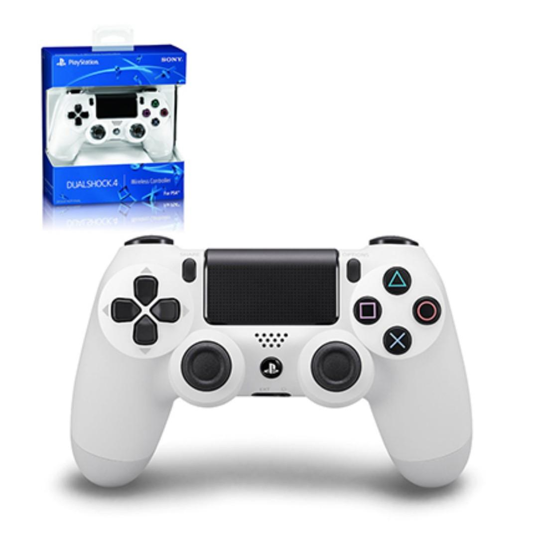 NEW Authentic With Sony Warranty White PlayStation 4 PS4 Wireless Controller Play Station For Console Fat Slim Pro