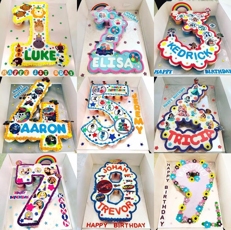 Number Design Pullapart Cupcakes Cake Food Drinks Baked Goods On Carousell