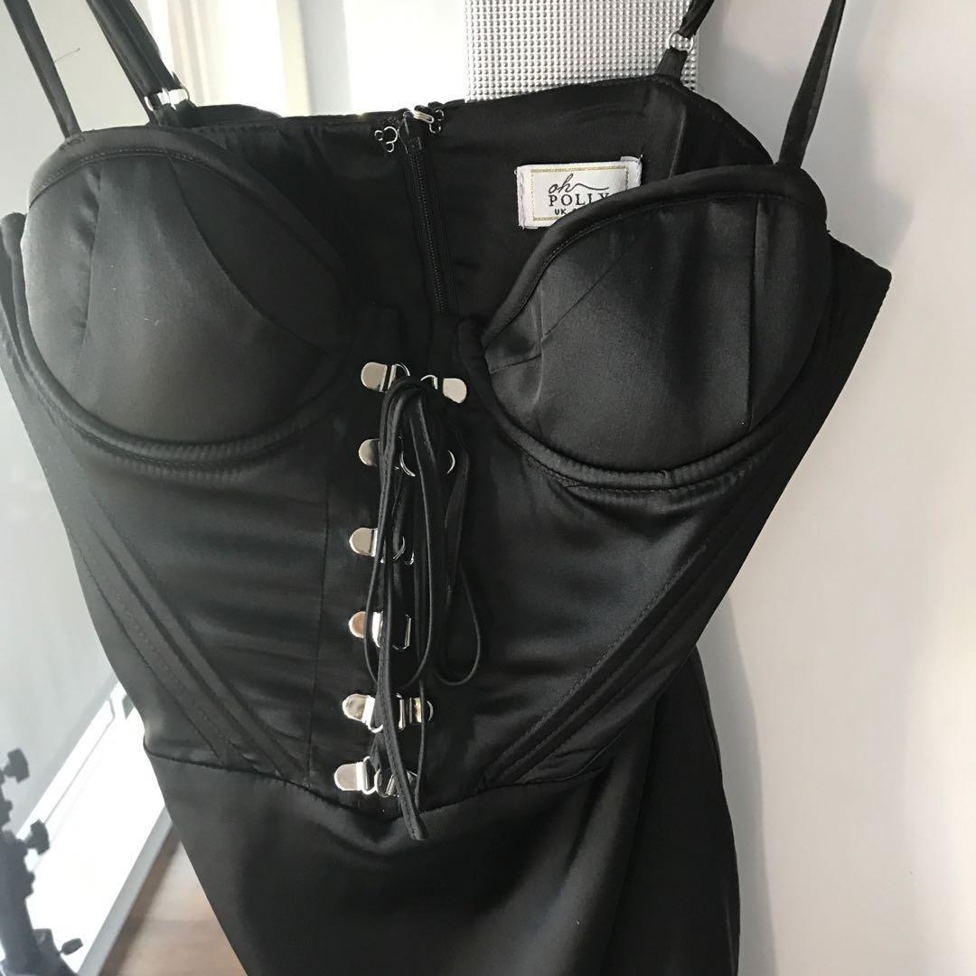 Oh polly mini black dress