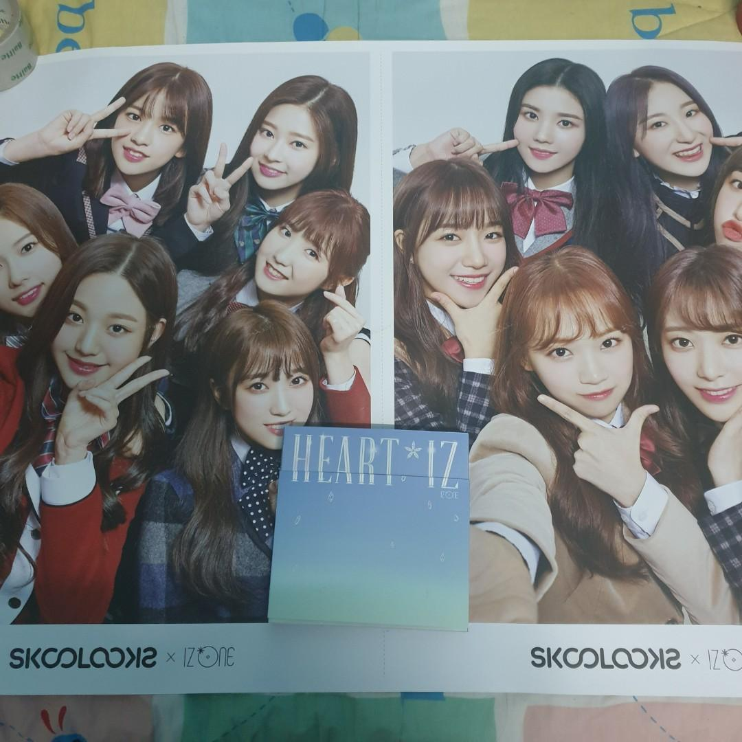 [RARE] IZONE Skoolooks x IZ*ONE Skoolooks x THE BOYS Official Huge Poster