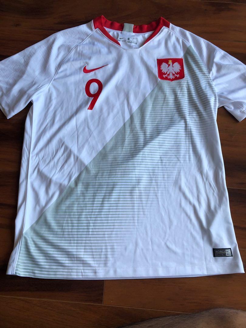 ROBERT LEWANDOWSKI SOCCER JERSEY WORLD CUP 2018 POLAND (L)