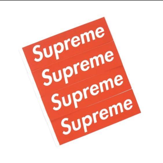 Supreme ss17 faux box logo sticker