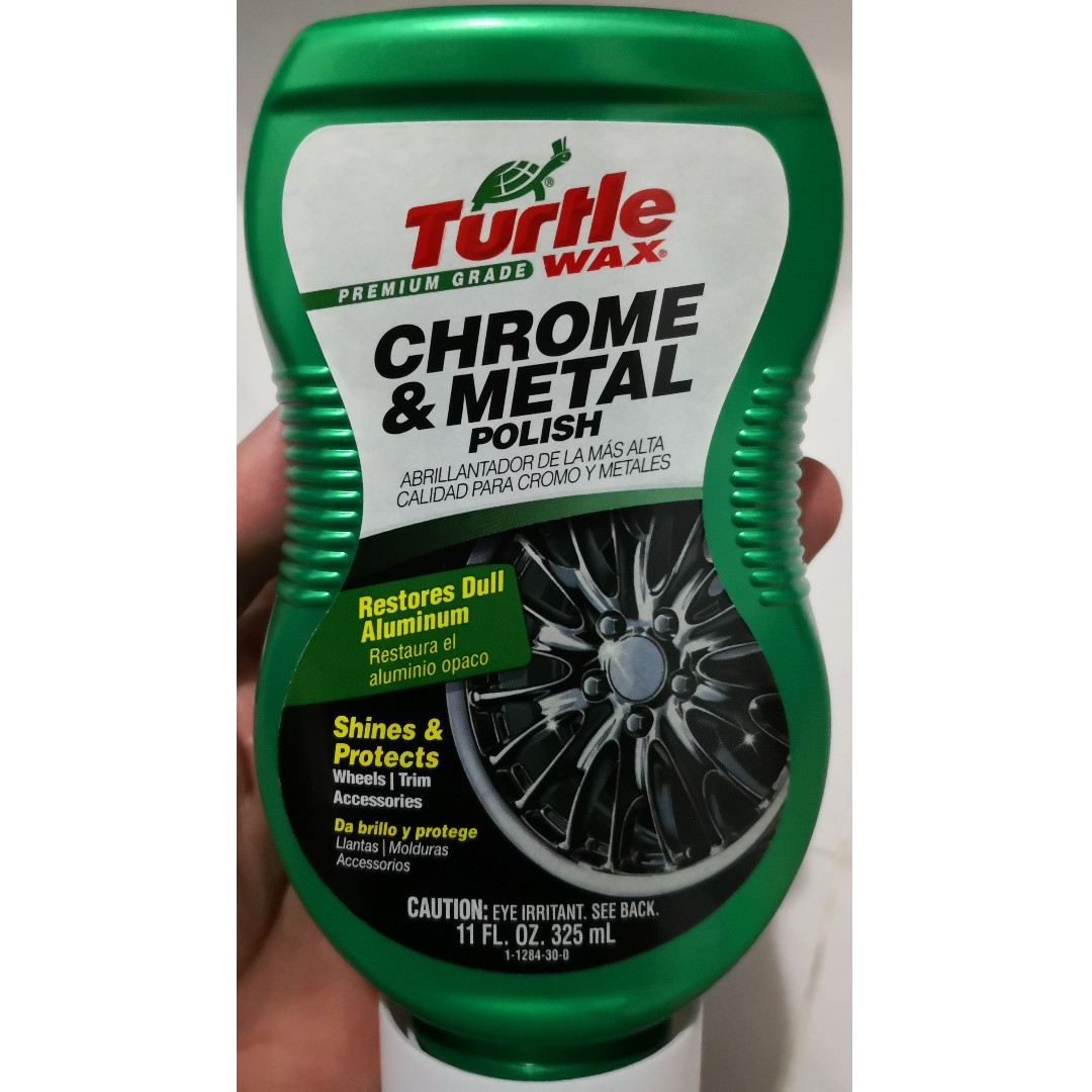 89d9c6adfff Turtle Wax T-284 Premium Grade Chrome & Metal Polish 325ml, Car  Accessories, Accessories on Carousell