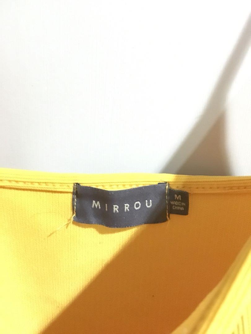 Yellow bodysuit