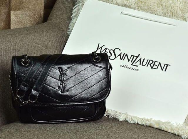 Y*SL Niki Chain Quilted