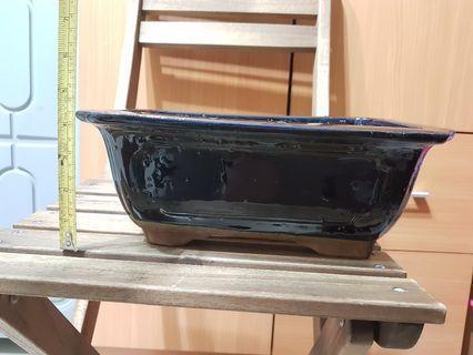 Medium side bonsai ceramic pot for flower plant
