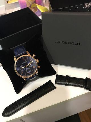 🚚 Aries Gold Watch