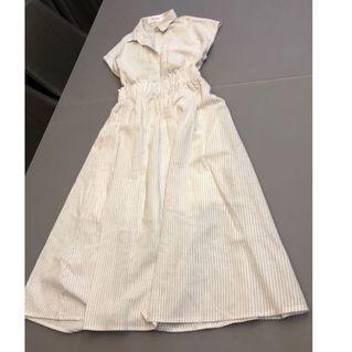 🚚 韓國設計短袖白色套裝 夏季 類似棉麻材質 舒服