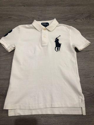Polo Shirt 5Y 白Tee