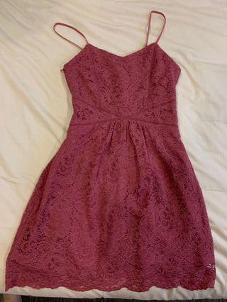 [BN] Lace dress in terracotta