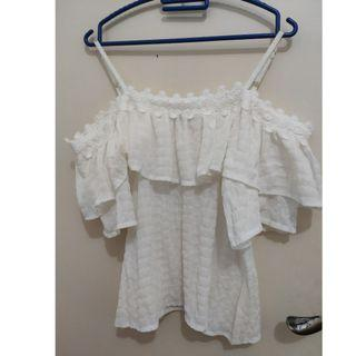 Baju Sabrina Top Putih - New