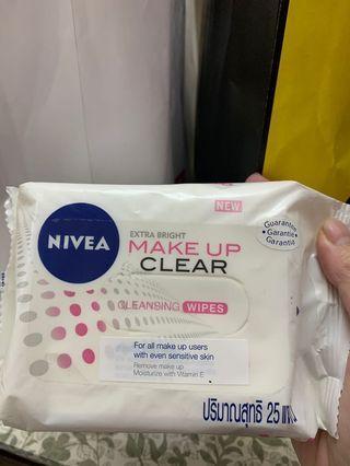 Nivea make up cleansing wipe