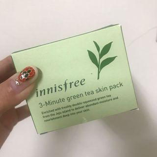 🚚 Innisfree 3分鐘綠茶保濕面膜🍃