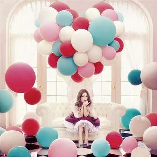 Colorful balloons (purple / pink / tiffany blue / white / light blue)
