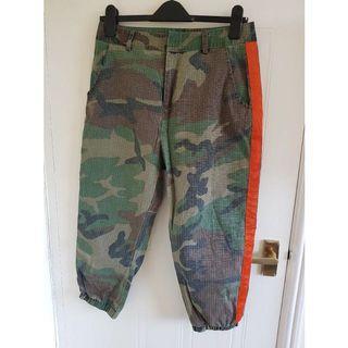Cargo pants with orange
